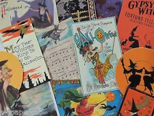 12 Pc. Set VINTAGE HALLOWEEN WITCH Witches DIE CUTS 4 CRAFTS | H58 | FREE SHIP