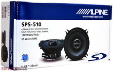 "Alpine SPS-510 Type-S Series 2-Way 5.25"" Coaxial Car Speakers (Pair) SPS510"