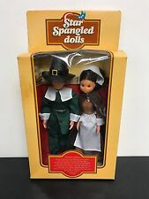 "~ ULTRA RARE ~ 1974 Mattel ""Star Spangled Dolls"" THANKSGIVING PILGRIMS #7943 NOS"