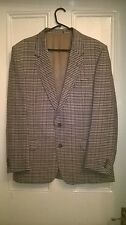 LOUIS FERAUD CHECK BLAZER/JACKET PURE NEW WOOL IWS - MODESTO BERTOTTO MILAN SZ L