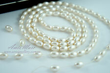 110pcs Beads 6x8mm Cream/Ivory Color Oval Shape Imitation Acrylic Pearl Spacer