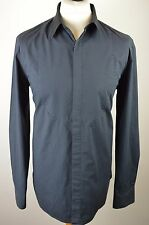 Classic men's Jack Wills dark grey and black long sleeved shirt large