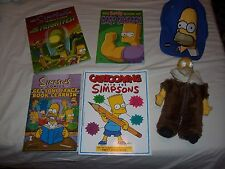 The Simpsons Fan lot of 6 items hat, doll, comic books