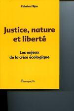 Justice nature et liberte