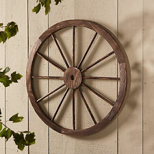 Large Wood Wagon Wheel Western Country Outdoor Rustic Patio Garden Yard Decor