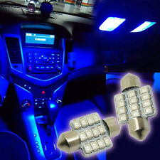 High quality 2x Blue 31mm 12-SMD LED For Interior Car LED Lamps L58  LED Bulbs