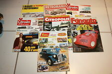 LOT de 7 REVUES sur la CITROEN TRACTION