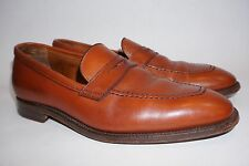 ALDEN Size 10 D Tan Leather Penny Loafers 3556 Made in USA British Tan