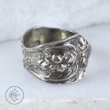 Vintage Sterling Silver | Floral Scroll SPOON Bypass 3.8g | Ring (5.75) KO0333