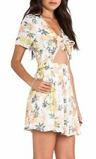 Free People Part Time Lover Lily Combo Tie Front Fit & Flare Dress, 10R - $128