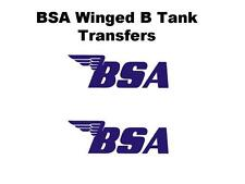 BSA Tank Transfers and Decals A10 A7 M20 M21 B31 B33 D50094 SOLD AS A PAIR BLUE