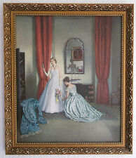 VINTAGE L. CAMPBELL TAYLOR HER FIRST BALL DRESS GOWN LGE PRINT ORNATE GOLD FRAME