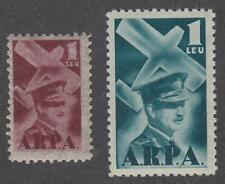 Romania Aviation Fund Revenues Barefoot #3-4 MNH 1931 cv $21