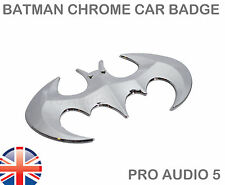 Bat Chrome Car Badge Van Truck Boot Batman For Toyota Fiat VW Ford Vauxhall UK
