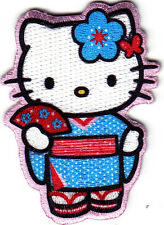 HELLO KITTY IN KIMONO - IRON ON PATCH - CARTOON CHARACTER-MOVIE