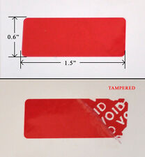 """250 SECURITY LABEL SEAL STICKER RED TAMPER EVIDENT 1.5"""" X 0.6"""" VOID WII XBOX PS3"""
