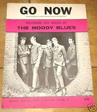 THE MOODY BLUES ~ GO NOW ~ UK VINTAGE SONG SHEET MUSIC SHEET 1963