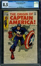 Captain America 109 CGC 8.5 - White Pages