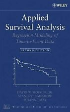 Applied Survival Analysis: Regression Modeling of Time to Event Data, May, Susan