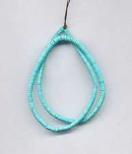 """MEXICAN TURQUOISE GRADUATED HEISHI BEADS - 16"""" Strand - 075C"""
