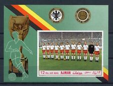 s4873) AJMAN 1970 MNH** World Cup Football - Coppa del Mondo Calcio s/s IMPERF.