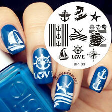 Nail Art Stamping plaque pochoir Template Image Plate Marine décor BORN PRETTY33