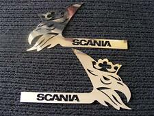 2 pcs Decoration Door For SCANIA All Series Made ​​Of Polished Stainless Steel