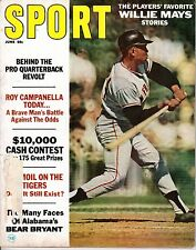 1967 (Jun.) Sport Magazine, Baseball, Willie Mays, San Francisco Giants ~ GLR