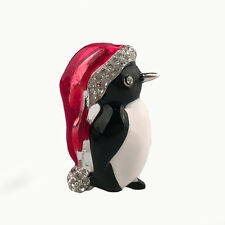 Enamel X'mas Gifts Lovely Penguin Hat Pins Brooches For Festival Animal Brooch