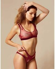 AGENT PROVOCATEUR GINGER BRA AND BRIEF SET SIZE MEDIUM 10-12 / 3 BNWT