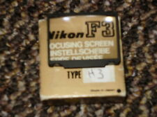 Nikon H3 Focusing Screen for Nikon F3 camera - Boxed.
