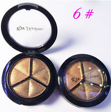 Eyeshadow Make Up Natural Smoky Cosmetic Eye Shadow 3 Colors Palette #6 Set