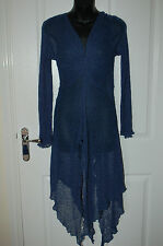 NEW (RRP £80) Long Length Blue Fine Knit Top by aganzi Size S/M