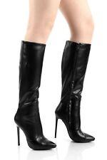 Giaro Elegance Luxus Damen Herren Stiefel schwarz matt sehr bequem EU 40