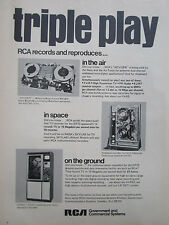 7/1972 PUB RCA RECORDER ADVISER AIR GROUND SPACE ERTS SATELLITE ORIGINAL AD