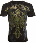 Xtreme Couture AFFLICTION Mens T-Shirt SPARTAN Skull Tattoo Biker UFC M-XL $40