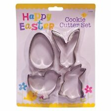 4 Easter Cookie Cutter Set Bunny POLLO UOVA PULCINI CONIGLIO CUTTER BISCUIT Fondant
