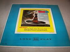 BRAHMS DOUBLE CONCERTO A MINOR HEIFETZ FEUERMANN LP EX RCA Victor LCT-1016