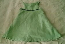Girls Petit Patapon brand wool weave feel Jumper Dress size 116 5/6 green