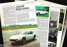 vintage TOYOTA Cars Article / Photo's / Pictures: 2000GT,Celica,2000 GT