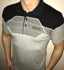 Hugo Boss Polo Top size XL Men's BNWT NEW Grey/black green label
