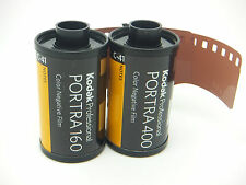 KODAK PORTRA TESTER PACK 2 ROLLS ONE 160 & ONE 400 35mm 36 Exp CHEAP NEG FILM