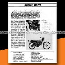 ★ SUZUKI TS 125 ★ 1978 Essai Moto / Original Road Test #a163