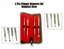 4 Blackhead whitehead pimple acne remover Comedone spot cleaner extractor Set