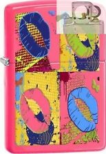 Zippo 29086 multi-colored lips neon Lighter with PIPE INSERT PL