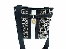 TOMMY HILFIGER Women's XBody~Messenger Bag*Black/White Shoulder Purse New $59