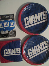 NEW YORK GIANTS NFL FOOTBALL Party Supply Pack Kit Plates, Napkins & Balloons