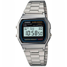 Casio Men's Digital Watch, Silver-Black A158WA-1