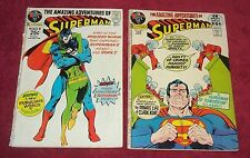 Amazing Adventures of SUPERMAN #243 #247 Low Grade 2 comic Lot Free Ship Movie