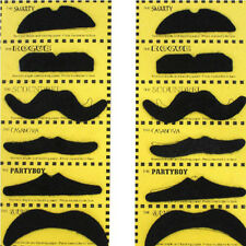 12X Unisex Self Adhesive Makeup Masquerade Party Acc Black Artificial Moustaches